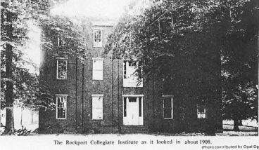 Rockport High School around 1908